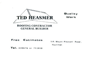 Ted Heasmer (advert June 1987)