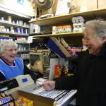 Shirley Goring and customer Bill Third