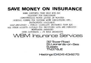 WBM Insurance (advert June 1987)